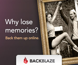 Family photos with text: Why lose memories? Back them up online